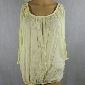 Womens OLD NAVY Blouse - Yellow - Sz SMALL